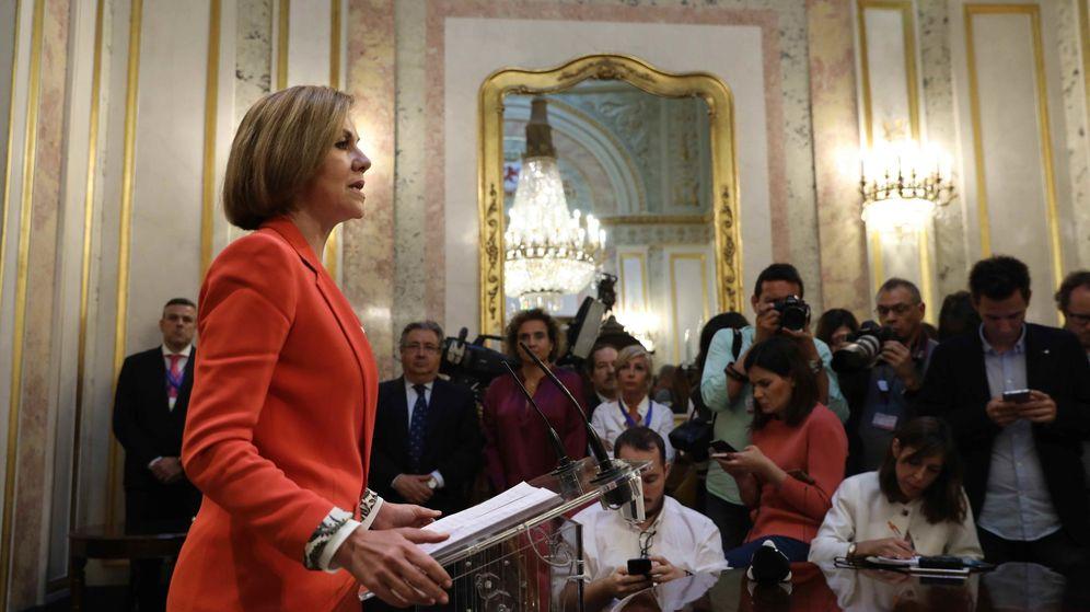 Foto: Cospedal en su comparecencia ante la  prensa | REUTERS Susana Vera