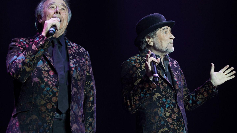 Con Serrat en un concierto en Barcelona el pasado mes de enero. (EFE)