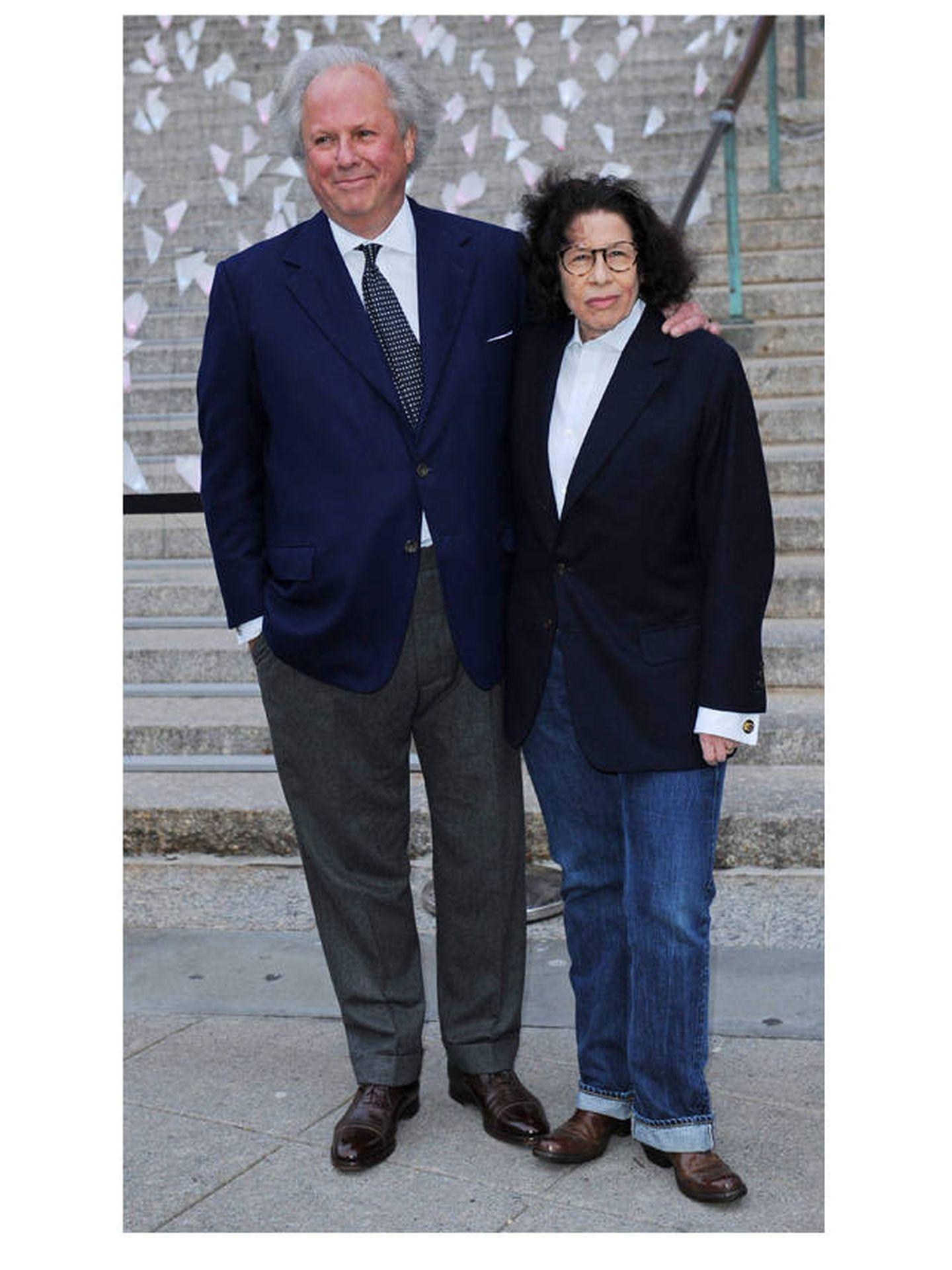 El editor en jefe de la revista 'Vanity Fair', Graydon Carter, y la escritora Fran Lebowitz. (EFE)
