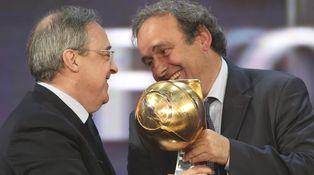 Florentino Pérez y Michel Platini escenifican un grotesco sainete