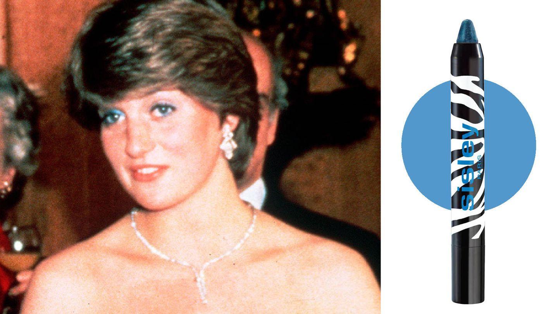 El delineado de ojos en tonos azules era la seña más característica del maquillaje de Diana de Gales. (Getty)