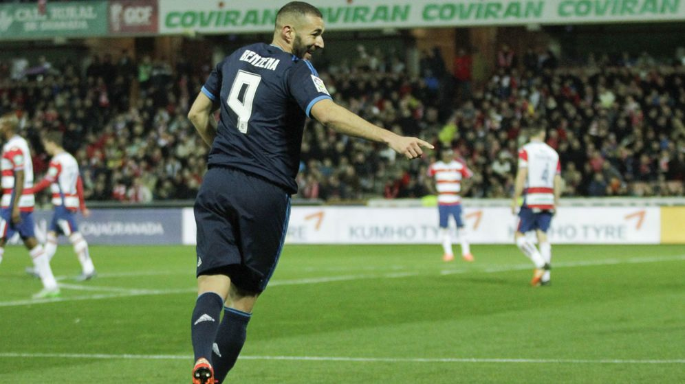 Foto: Benzema ha anotado en los últimos seis partidos de Liga (Cordon Press/Guillermo L.).