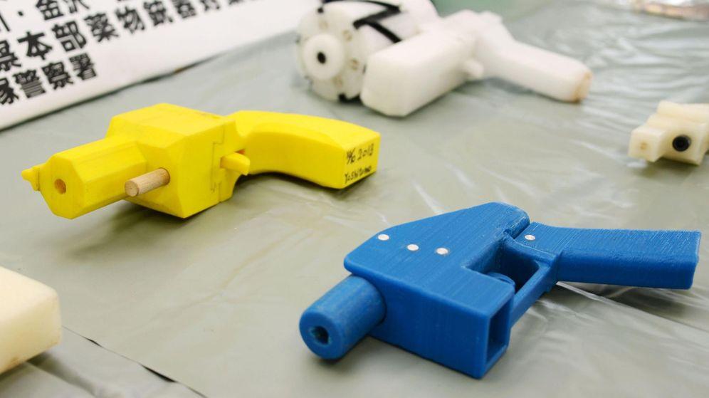 Foto: Pistolas impresas en 3D (Reuters)