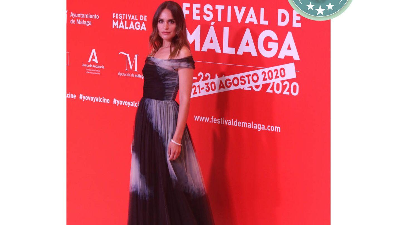 Verónica Echegui de Dior en el Festival de Cine de Málaga. (Cordon Press)