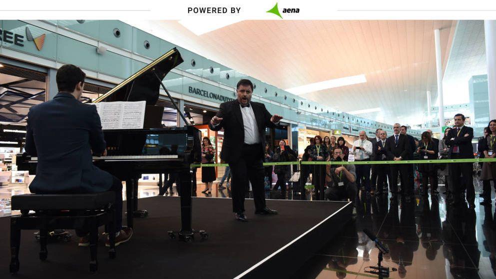 La música en directo que sorprende a los viajeros de los aeropuertos de Aena