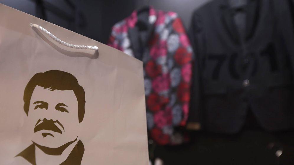 Foto: La imagen de El Chapo Guzman en una tienda de ropa. (Reuters)
