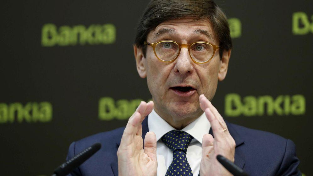 Foto: El presidente de Bankia, José Ignacio Goirigolzarri, durante la rueda de prensa. (EFE)