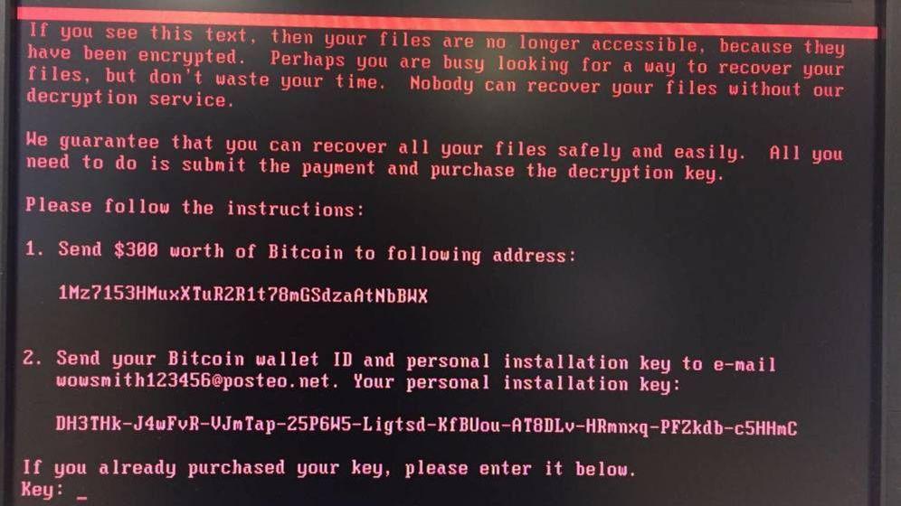 Foto: Este es el mensaje que aparece en los ordenadores del bufete DLA Piper.