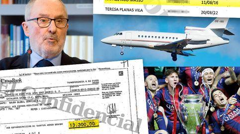 El avión y las facturas del vuelo vip de Ribó a Berlín para ver al Barça, pagados por el 3%