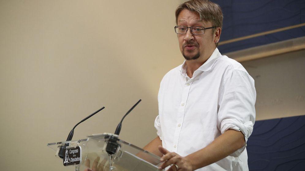 Foto: El portavoz de En Comú Podém en el Congreso, Xavier Domènech. (EFE)