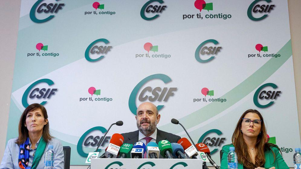 Foto: El presidente de la Central Sindical Independiente y de Funcionarios (CSIF), Miguel Borra (EFE)