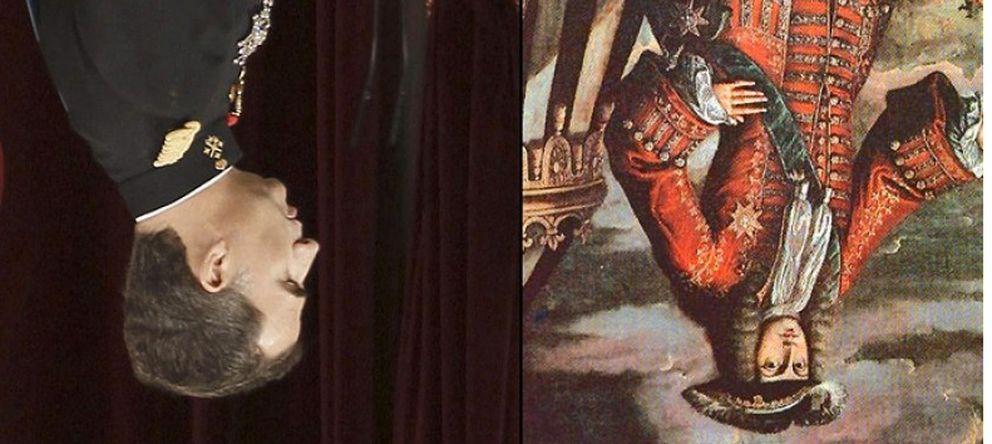 Foto: El diario independentista Vilaweb colgó boca abajo todas las fotografías relacionadas con la coronación de Felipe VI.