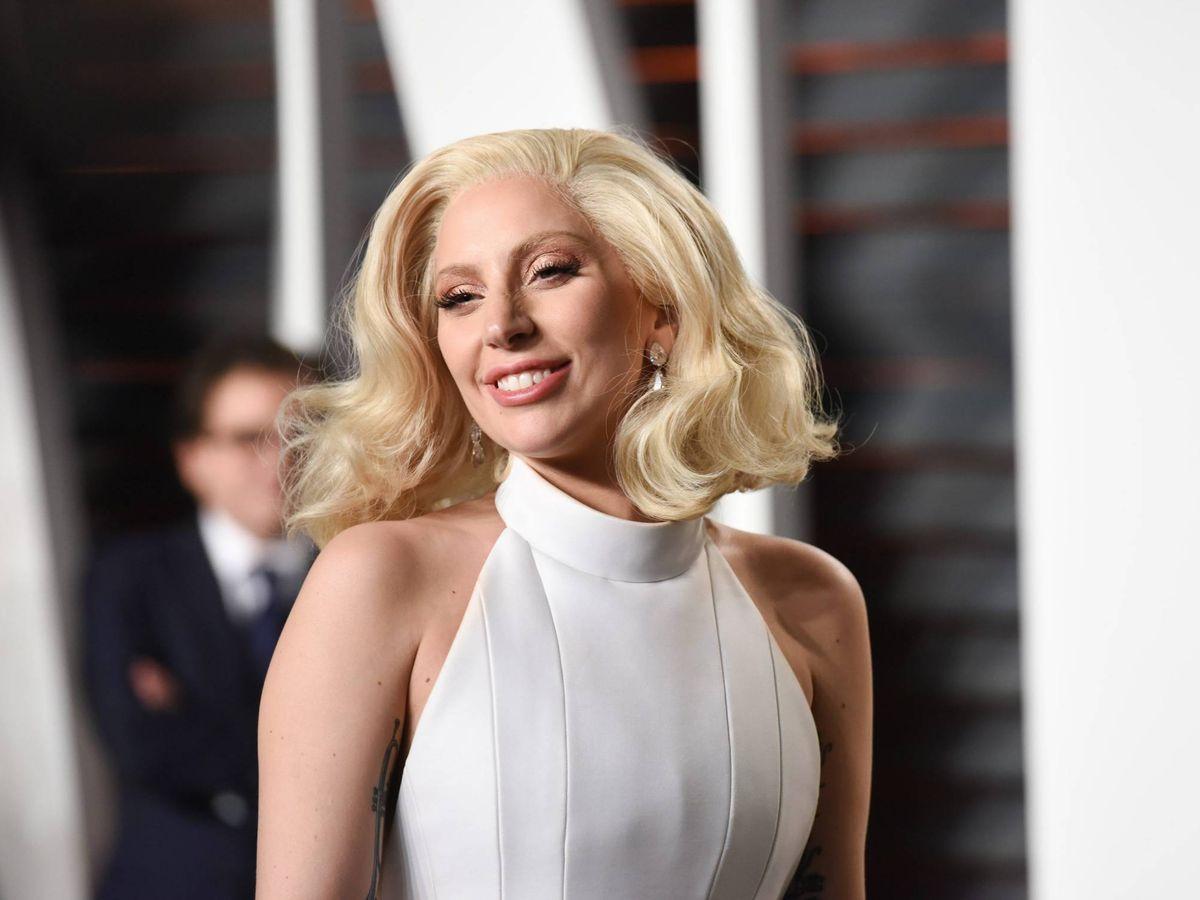 Foto: Lady Gaga, en la fiesta de los Oscar 2016 organizada por 'Vanity Fair'. (CP)