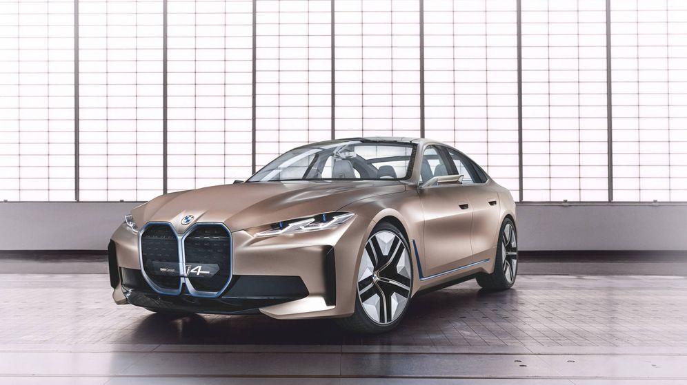 Foto: Frontal llamativo en el BMW i4 Concept, un coche que estará en producción en 2021.