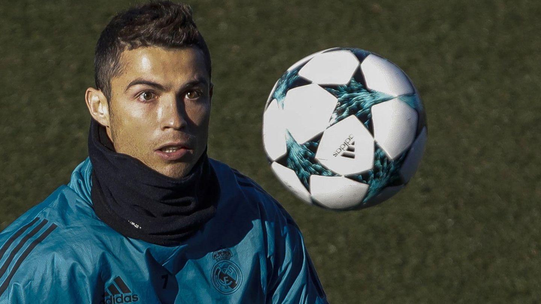 Cristiano Ronaldo, durante un entrenamiento. (EFE)