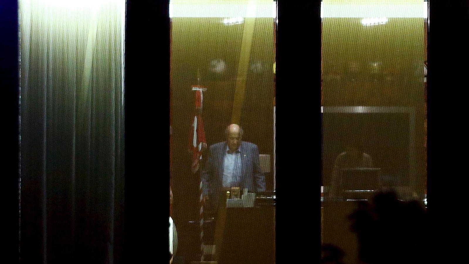 Foto: Imagen de Blatter en la sede de la FIFA tras la reunión del Comité Ejecutivo el pasado viernes (Reuters)