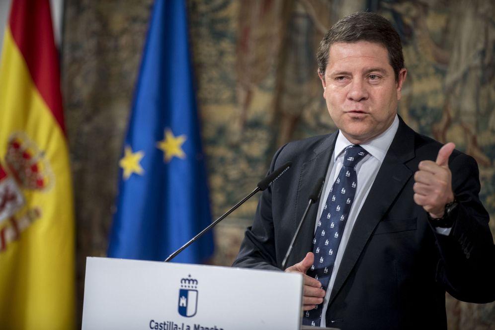 Foto: El presidente manchego, Emiliano García-Page, el pasado 24 de mayo en rueda de prensa en Toledo. (EFE)