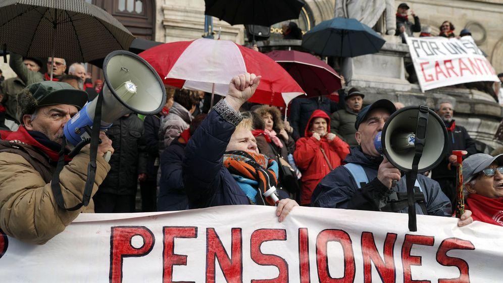 Foto: Protesta por las pensiones. (EFE)