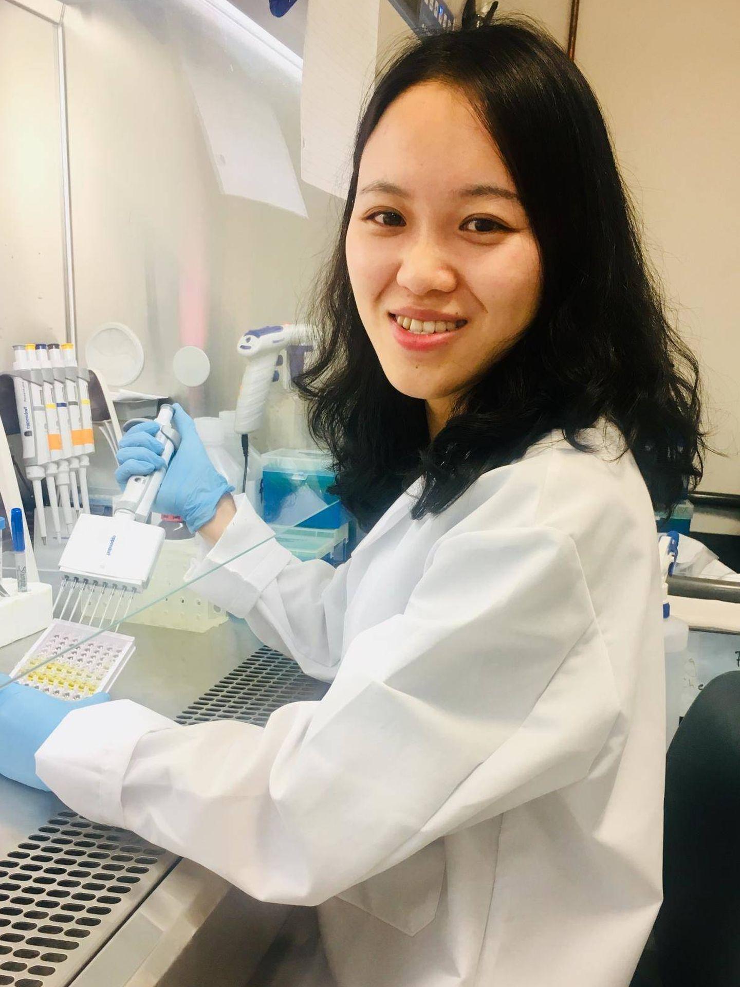 La investigadora Jianan Zhang, autora principal del estudio. (UMass Amherst)