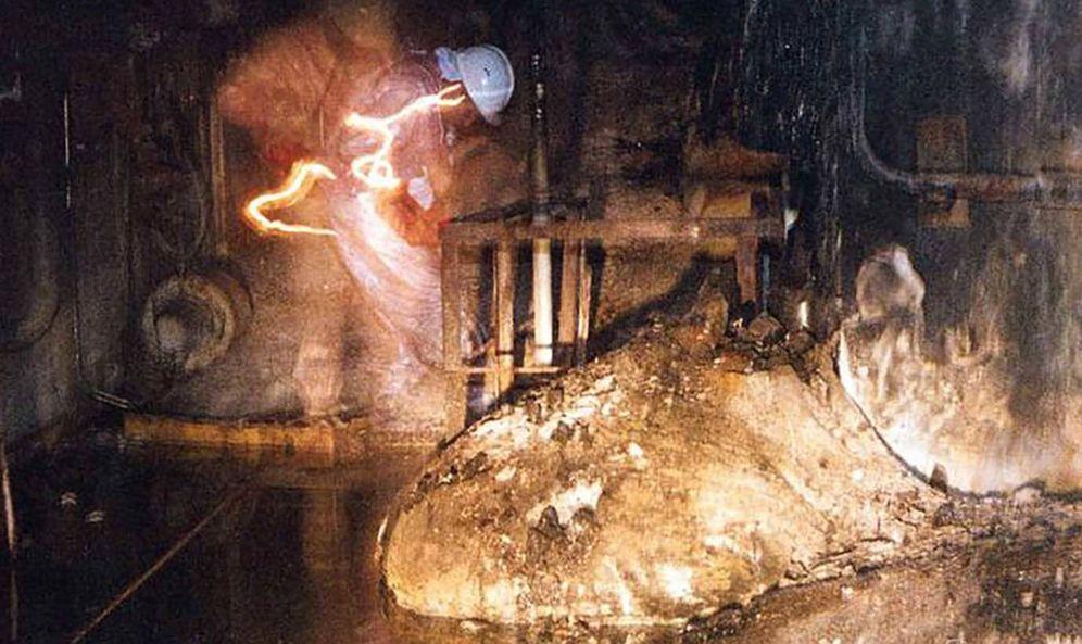 Foto: La 'pata de elefante' de Chernóbil. (Foto: US Department of Energy)