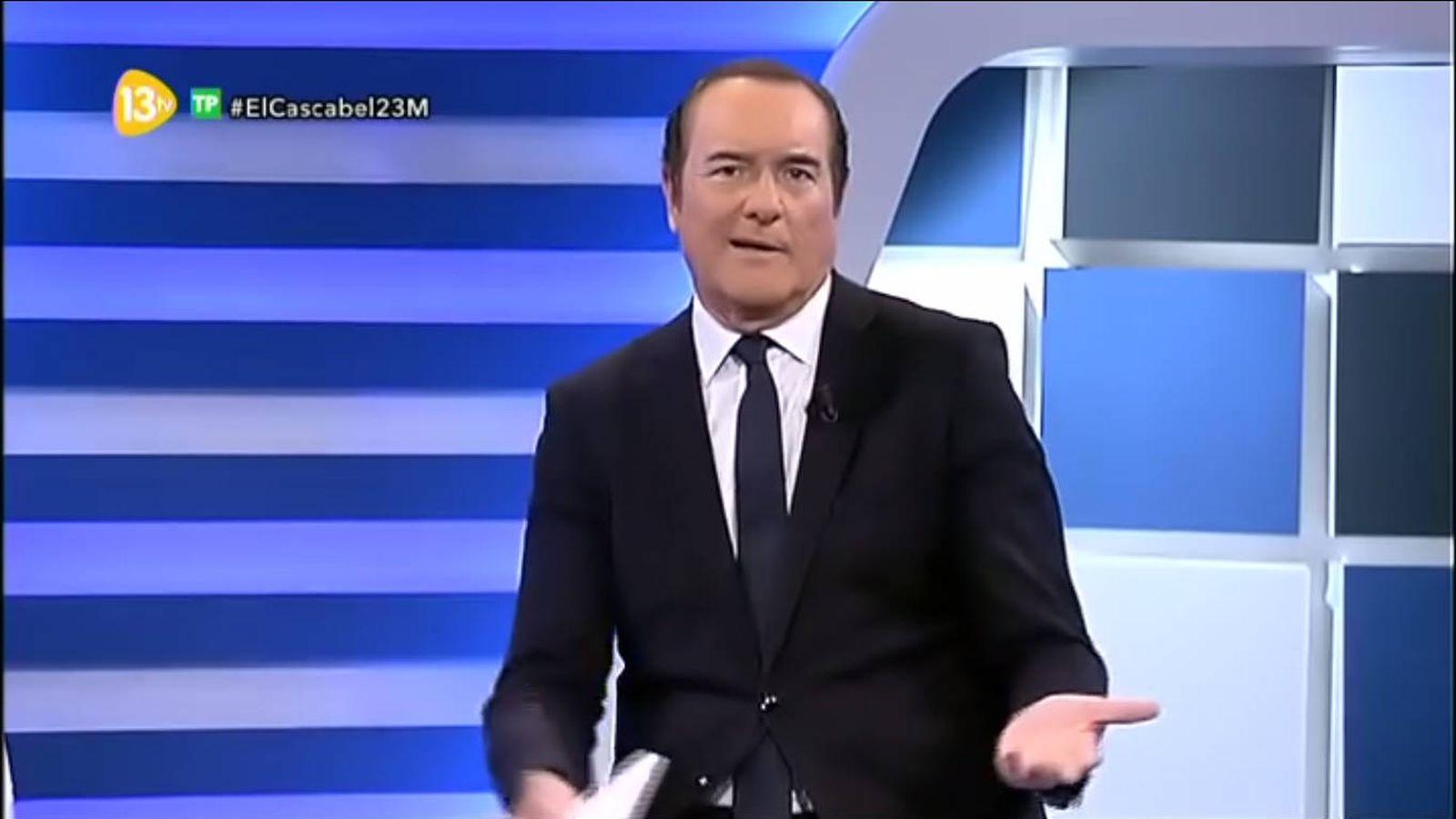 Foto: Antonio Jiménez pide disculpas en 13tv tras su desafortunado comentario. (13tv)