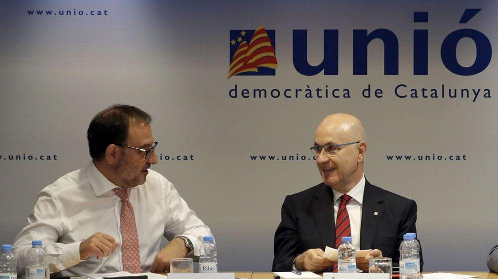 Foto: El presidente de UDC, Josep Antoni Duran Lleida (d), y el secretario general, Ramón Espadaler (i). (EFE)