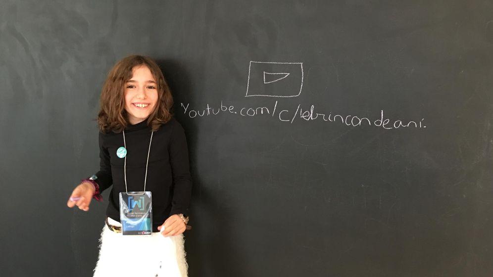 Foto: Con nueve años, Ani tiene nociones de programación, de Photoshop y su propio canal en la plataforma de vídeos.