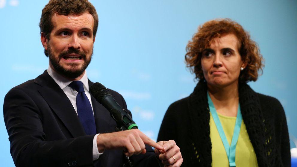 Casado insiste en Cataluña, Navarra y la economía para avalar un gabinete del PSOE