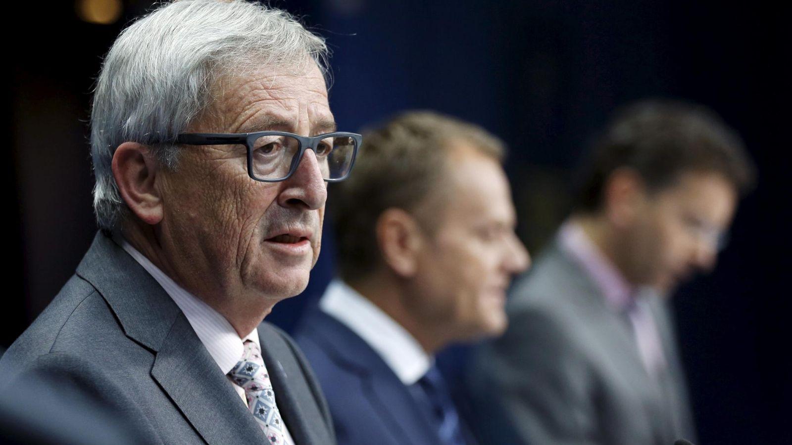 Foto: El presidente de la Comisión Europea, Jean-Claude Juncker, durante una rueda de prensa en Bruselas (Reuters).