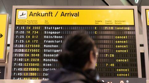 Cientos de vuelos cancelados por la huelga en aeropuertos de Alemania