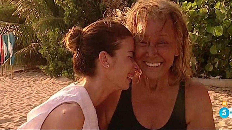 Mila Ximénez y su hija Alba Santana, en 'Supervivientes'.