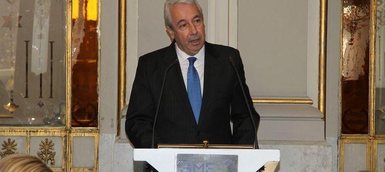 Foto: El presidente de BME, Antonio Zoido, durante su intervención en la Bolsa de Madrid
