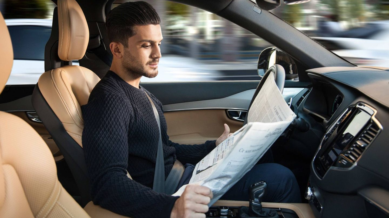 Un ejemplo de conducción autónoma en un coche Volvo que ya se ha probado en Suecia.