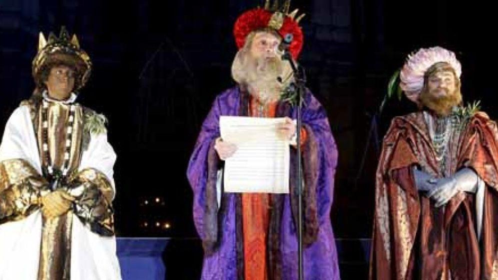 Fotos De Los Reye Magos.Navidad Reyes Magos Y Ninos Cuando Hablar A Los Mas