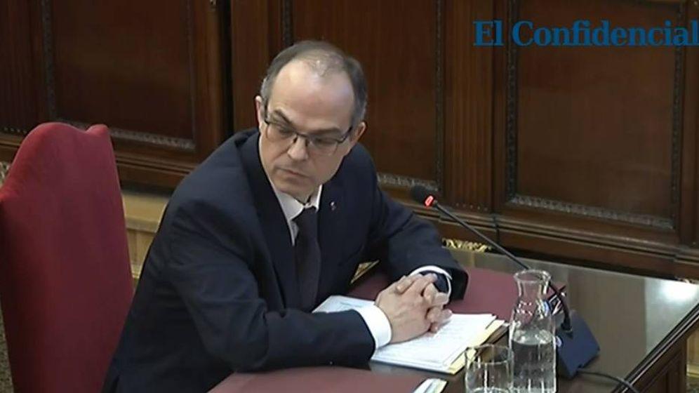 Foto: Jordi Turull, durante su declaración.
