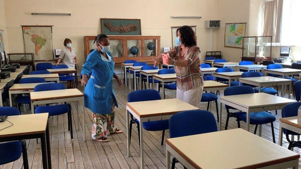 Foto: Vista del interior del colegio María Amália Vaz de Carvalho, en Lisboa (Portugal). (EFE)
