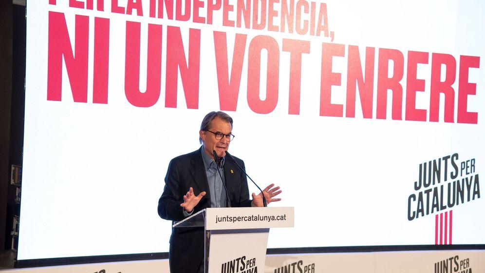 Foto: El expresidente catalán Artur Mas, durante el mitin de Junts per Catalunya en noviembre del año pasado. (EFE)