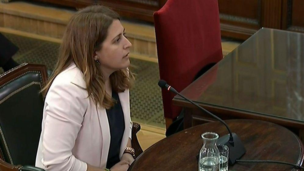 Foto: Marta Pascal durante su declaración en el Tribunal Supremo como testigo en el juicio del 'procés'. (EFE)