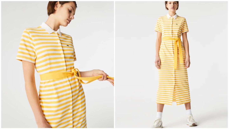 El vestido de Lacoste que luce Marta Hazas. (Cortesía)