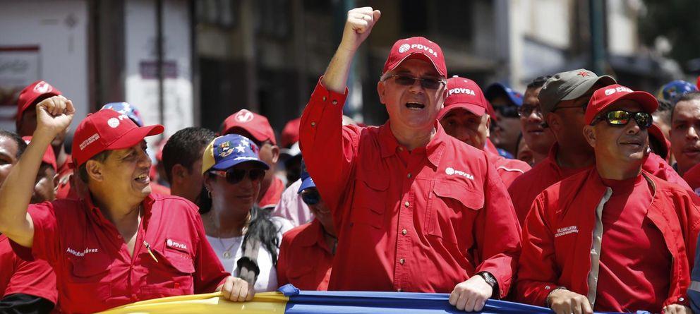 Foto: Rafael Ramírez, durante una manifestación en apoyo del presidente Nicolás Maduro celebrada en Caracas (Reuters).