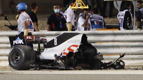F1 en directo: brutal accidente de Grosjean, el coche partido por la mitad y entre llamas