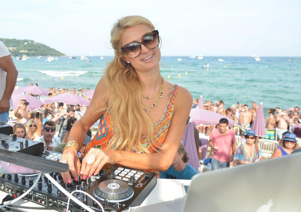 Foto: Paris Hilton ejerciendo de Dj (Gtres)