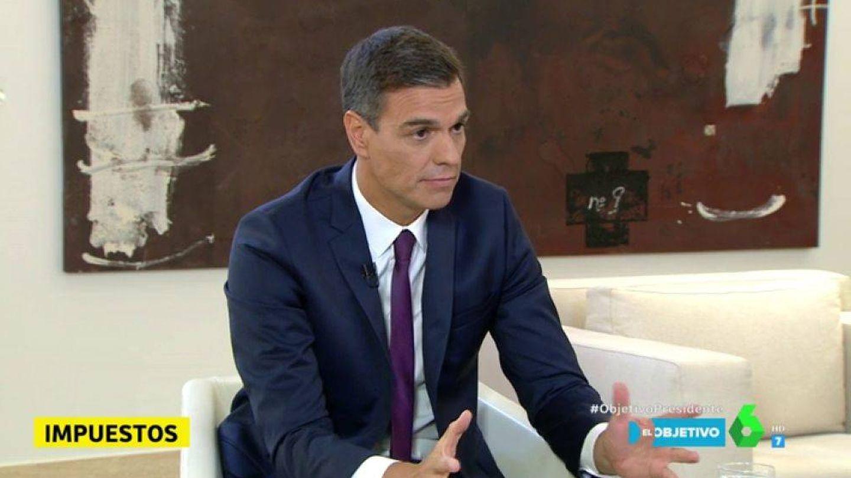 Pedro Sánchez, en 'El objetivo'. (Atresmedia)
