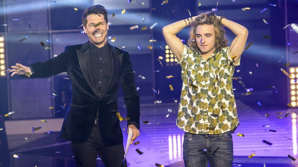 Foto: Manel Navarro celebra su triunfo en 'Objetivo Eurovisión'