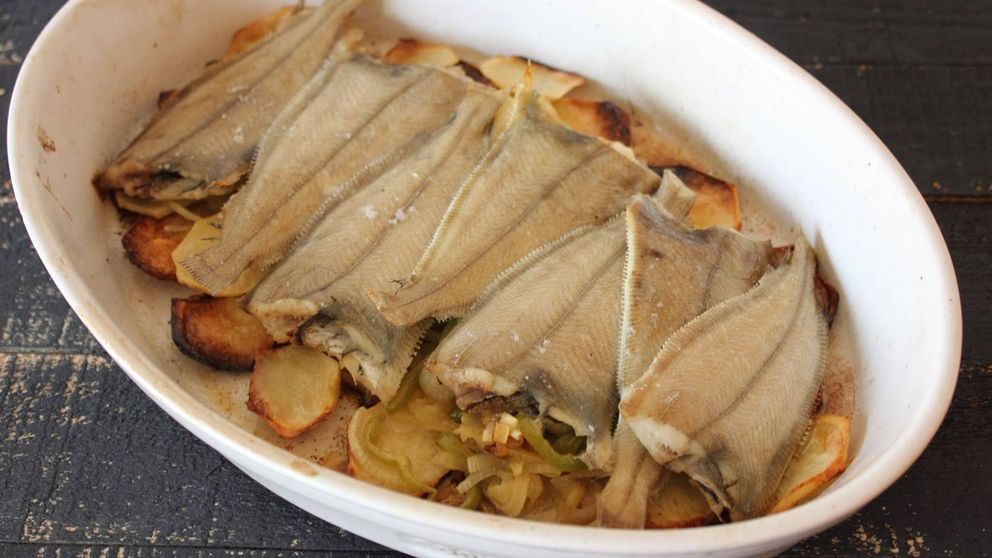 Rapantes al horno con patatas: un plato muy sano para llevar al trabajo
