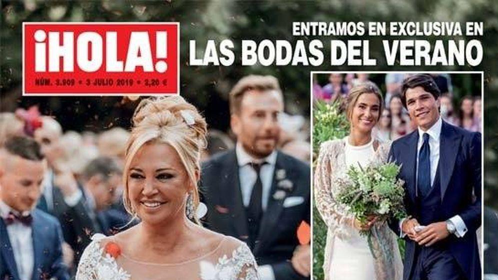 Foto: Primeras imágenes de la boda de Belén Esteban en la portada de '¡Hola!'.
