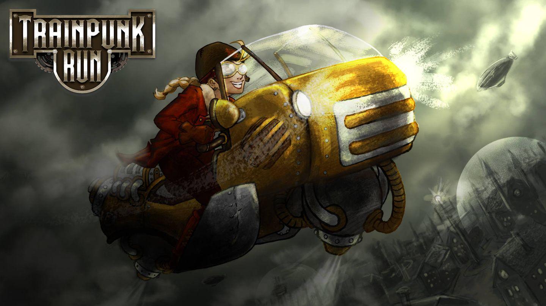 Trainpunk Run, de Jellyworld Interactive, está protagonizado por una mujer piloto (Fuente: Jellyworld Interactive)