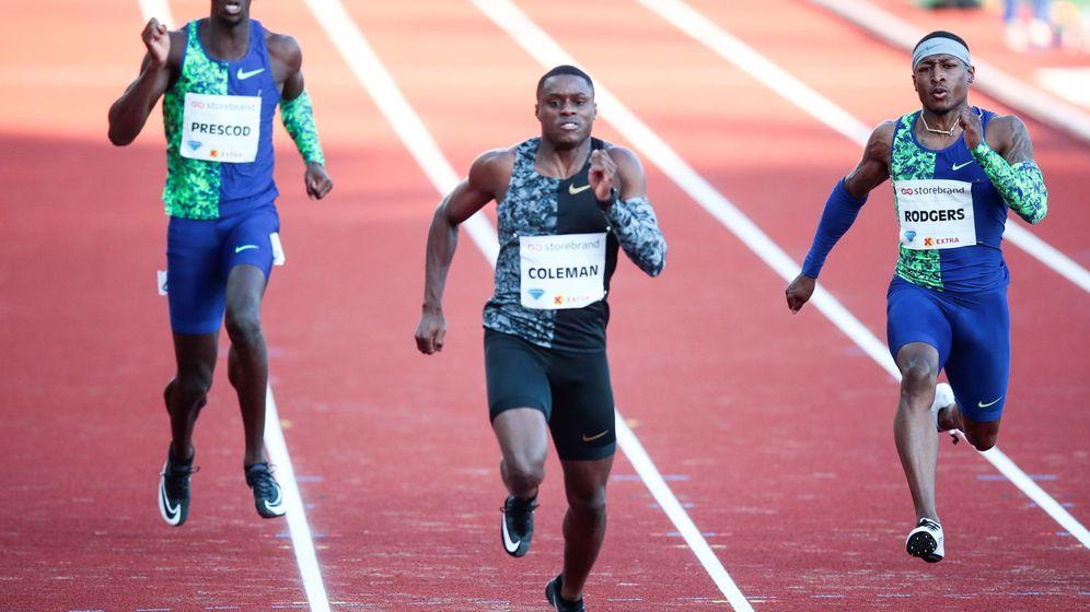 Foto: Christian Coleman tiene 9,79 como mejor marca en los 100 metros. (EFE)
