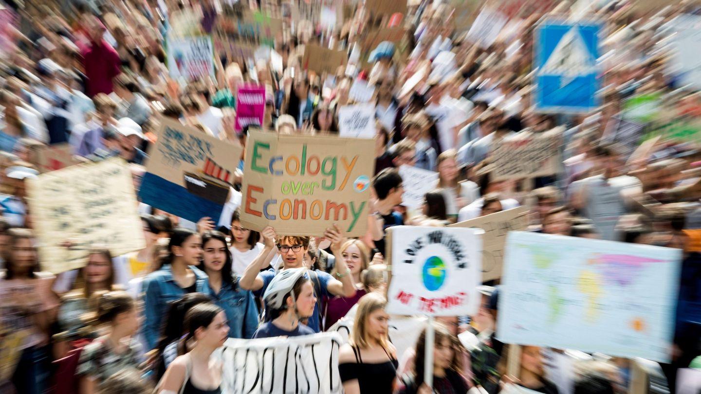 Manifestación de jóvenes a favor del planeta (EFE)