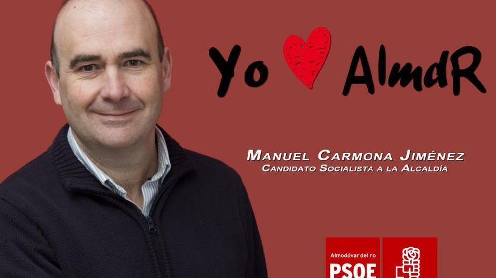 Foto: Cartel para las pasadas elecciones. (Foto: http://socialistasdealmodovardelrio.blogspot.com.es)